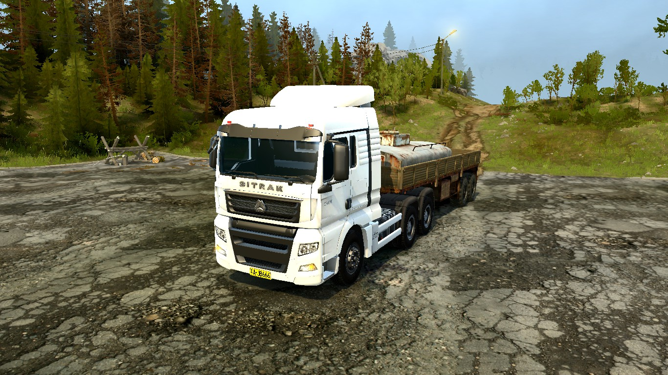 Spintires:Mudrunner - Sitrak C7H540 Truck v1.0