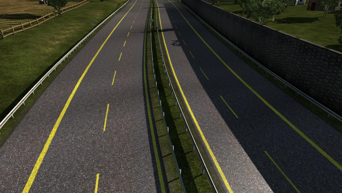 ETS2 - Road Yellow Stripes (1.36.x)