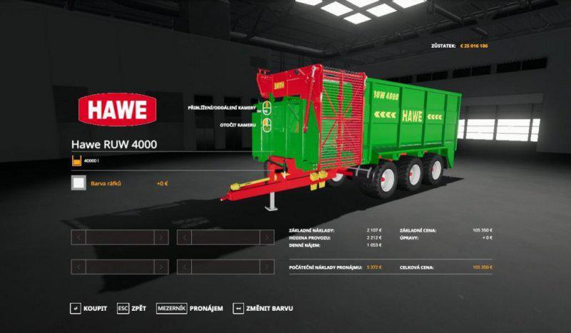 FS19 - Hawe Ruw 4000 Trailer V1.0