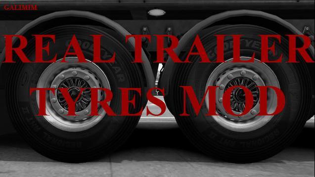 ETS2 - Real Trailer Tyres Mod V1.6 (1.38.x)