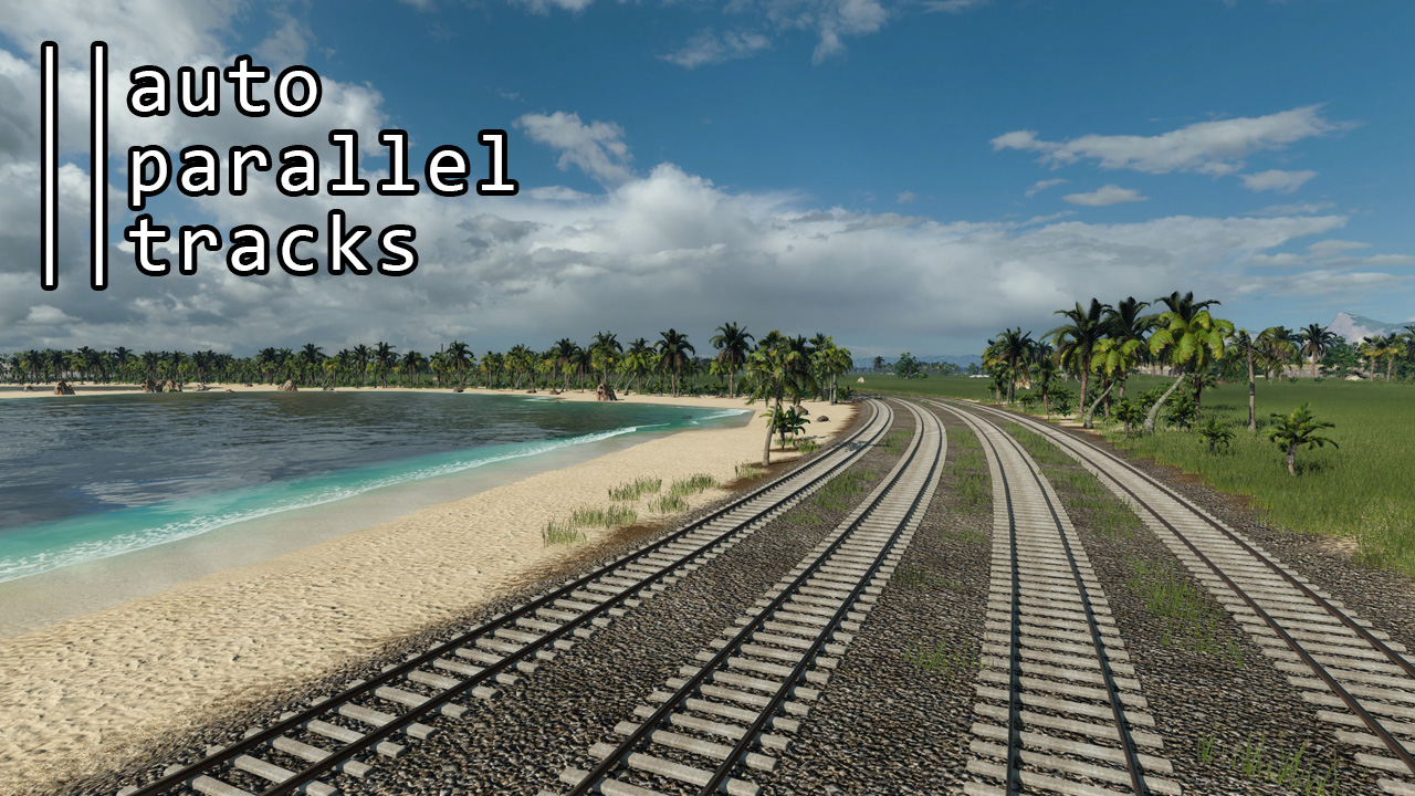 Transport Fever 2 - Auto Parallel Tracks