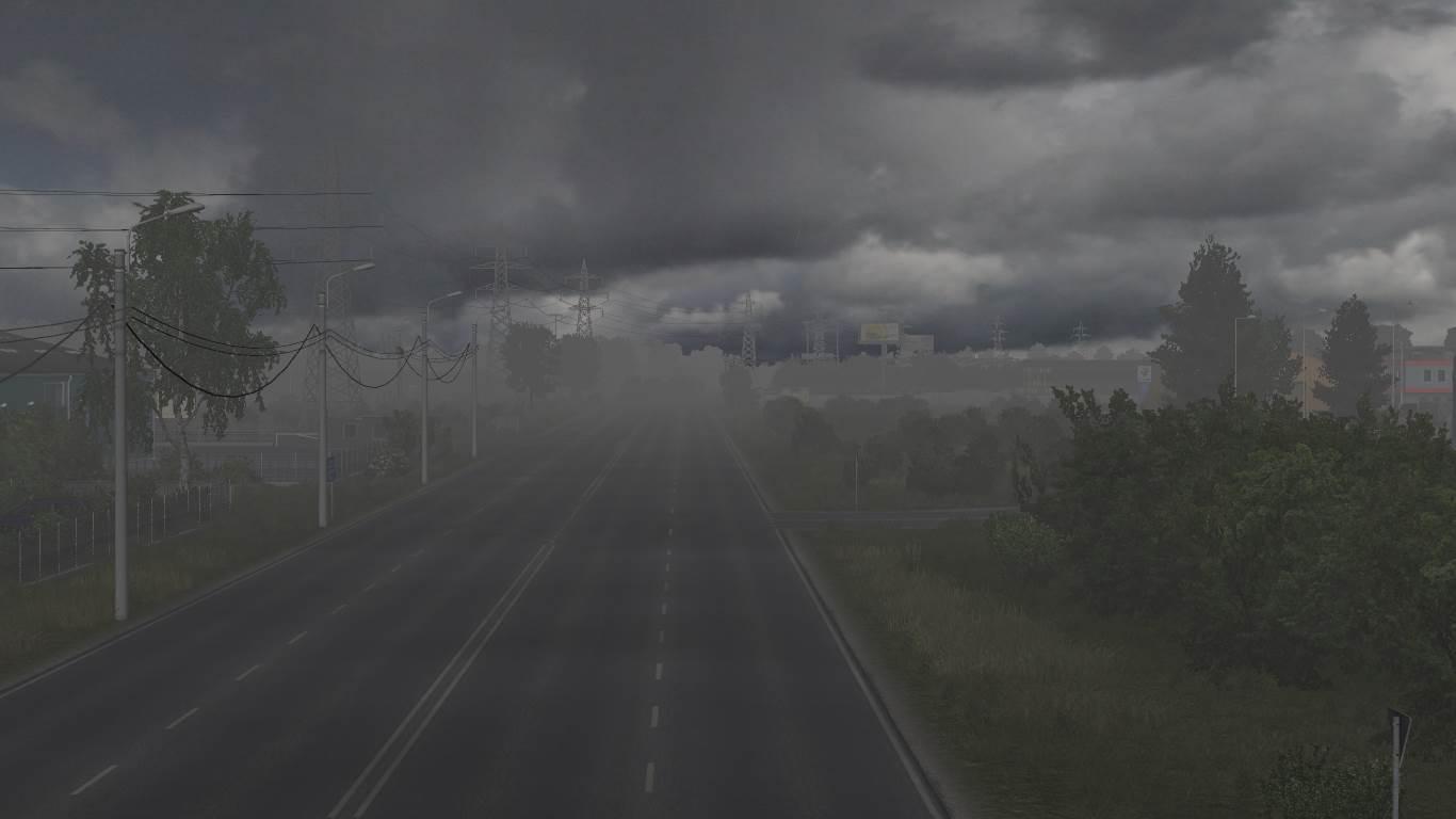 ETS2 - Realistic Rain & Thunder Sounds V2.2 (1.36.x)
