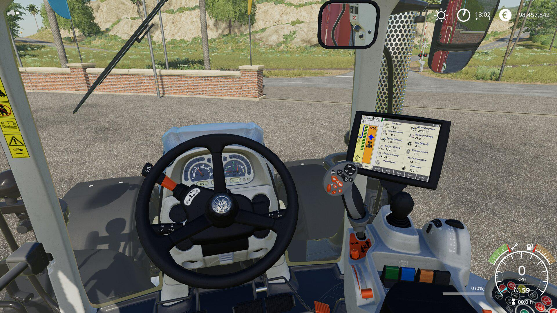 FS19 - New Holland T7 Extended Hud V1.2