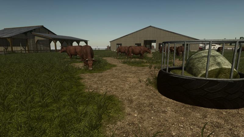 FS19 - Large Cattle Barn V1.0