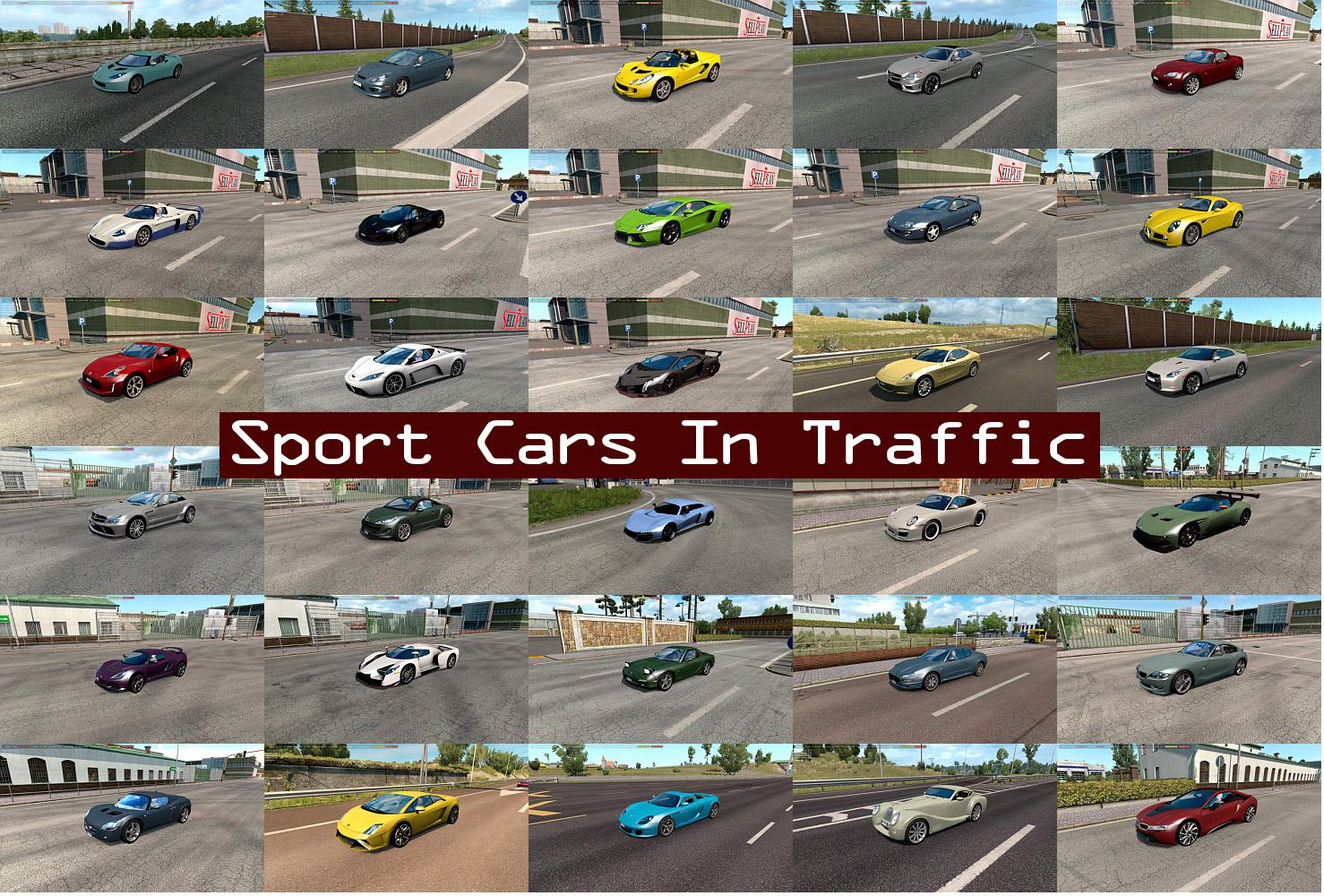 ETS2 - Sport Cars Traffic Pack V4.7 (1.35.X)