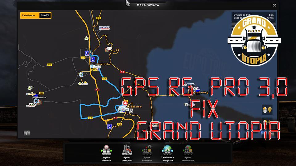 ETS2 - Gps Rg Pro 3.0 Fix Grand Utopia (1.36.x)
