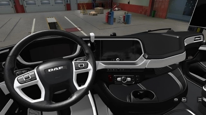 ETS2 - DAF 2021 White Interior V1.0 (1.41.x)