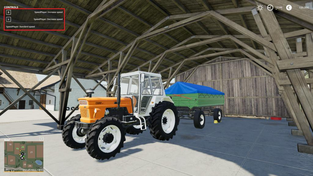 FS19 - Player Speed V1.1