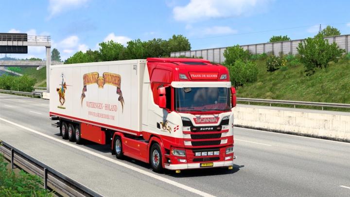 ETS2 - Frank de Ridder Skin Pack (Scania Nextgen + Schmitz) 1.40.x