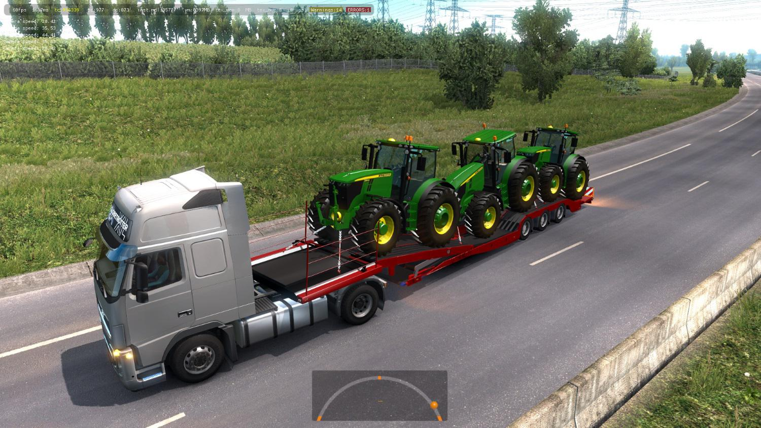 ETS2 - Trailers for Transporting Tractors and Equipment in Traffic Mod (1.36.x)