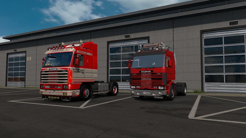ETS2 - Scania 143 Hedmark Transport Skin V1 (1.37.x)