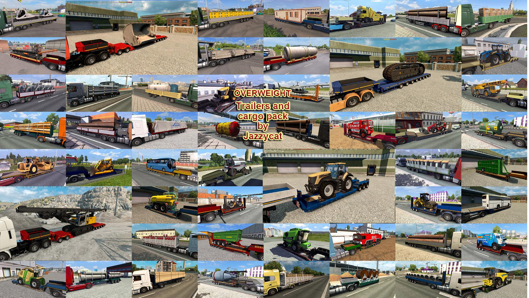 ETS2 - Overweight Trailers and Cargo Pack V8.1 (1.35.X)
