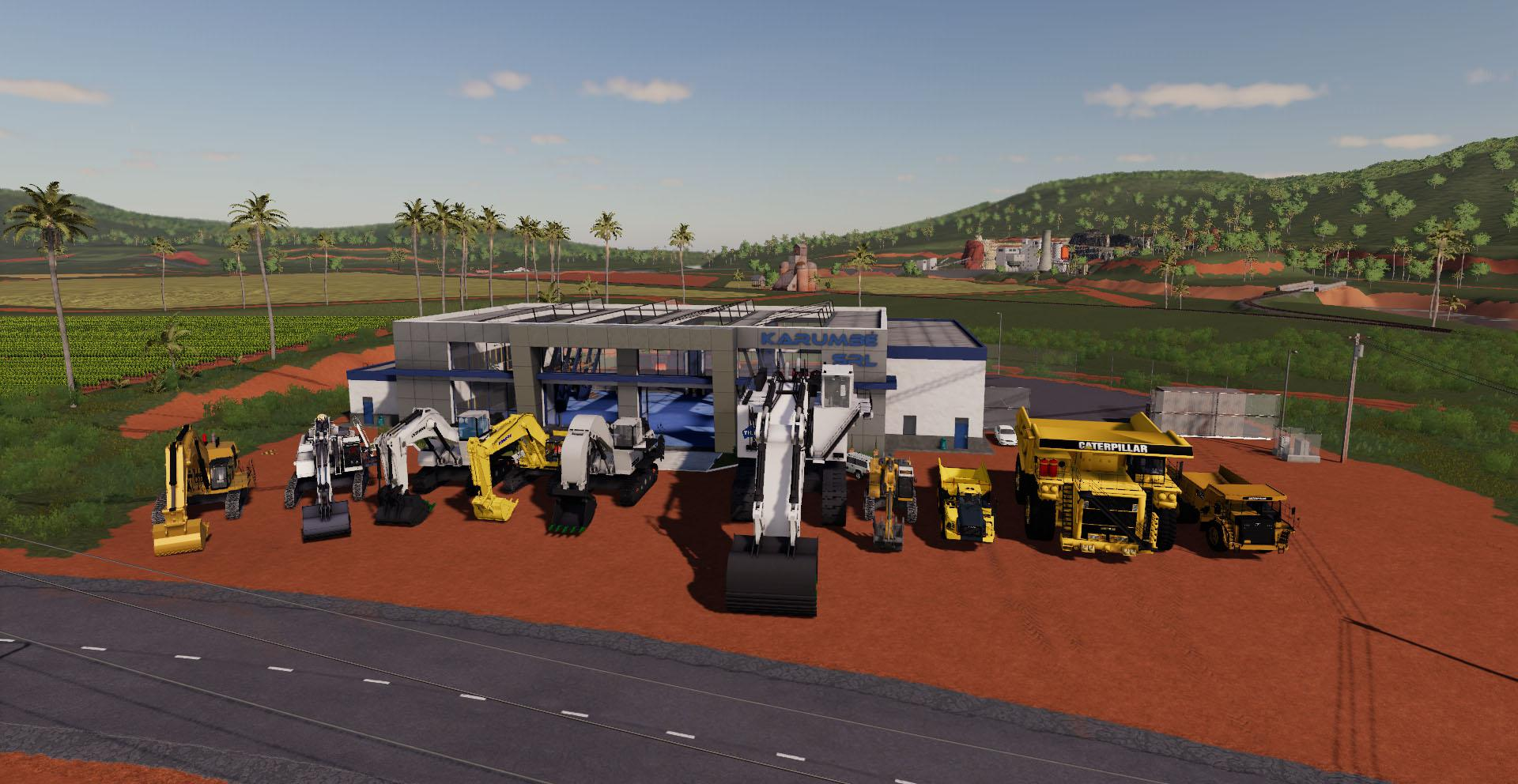 FS19 - Excavators and Dumpers for Mining & Construction Economy V0.1