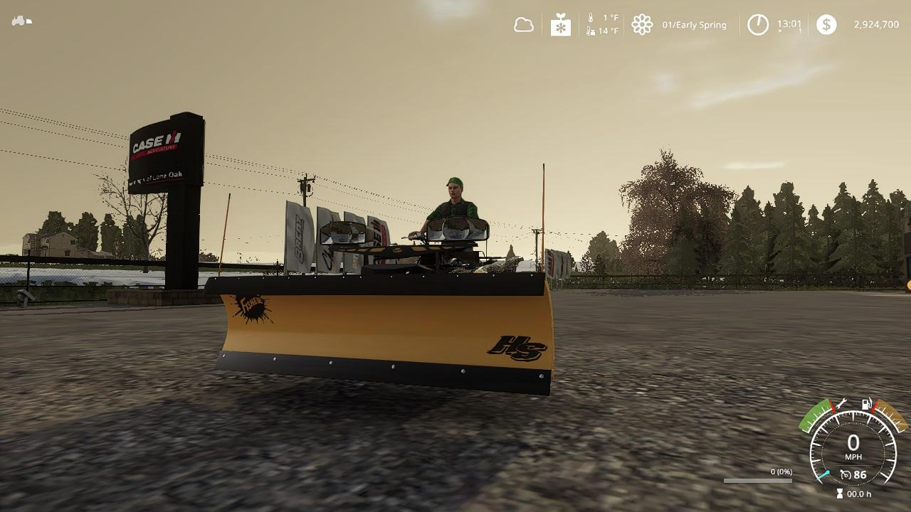 FS19 - Yamaha Grizzly Snow Plow V1.0
