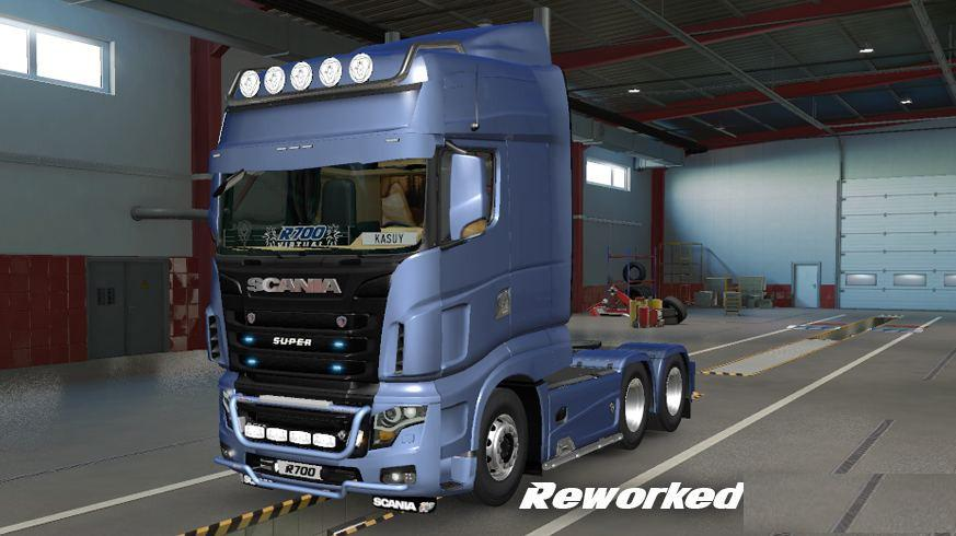 ETS2 - Scania R700 Reworked Truck V3 (1.38.x)