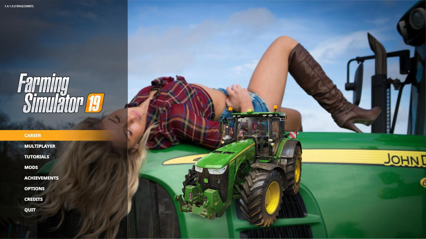 FS19 - John Deere Super Girl Edition Menu Background V1.0