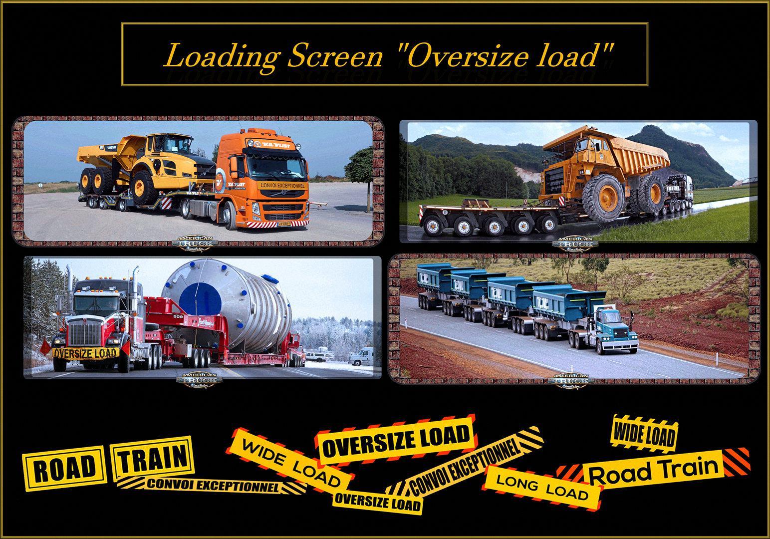 ATS - Loading Screen Oversize Load V1 (1.38.x)