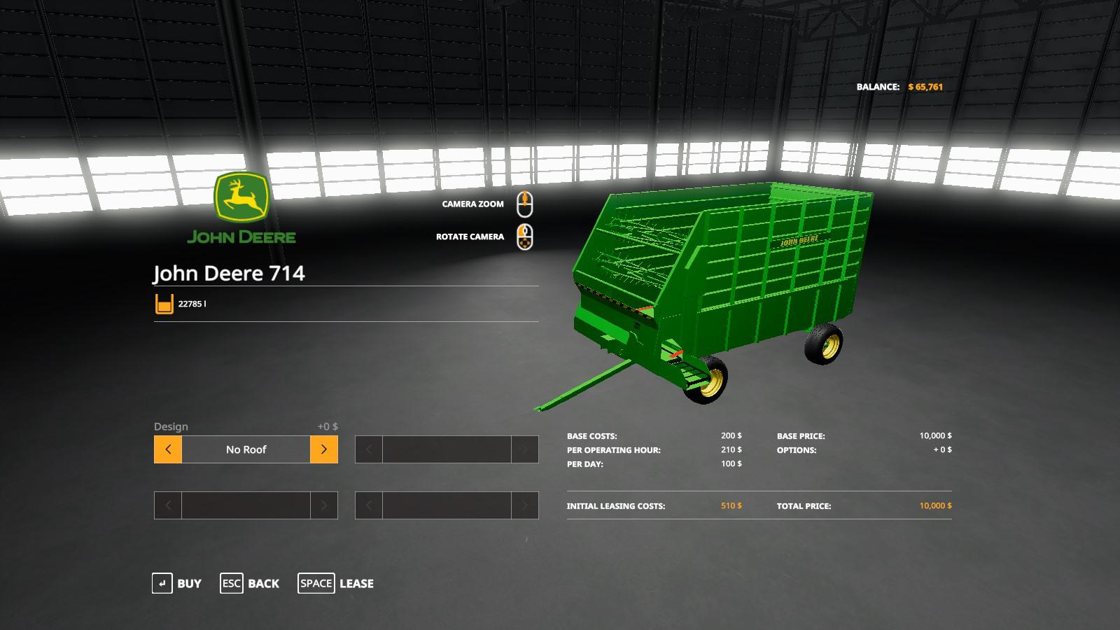 FS19 - John Deere 714 Forage Box V1.0