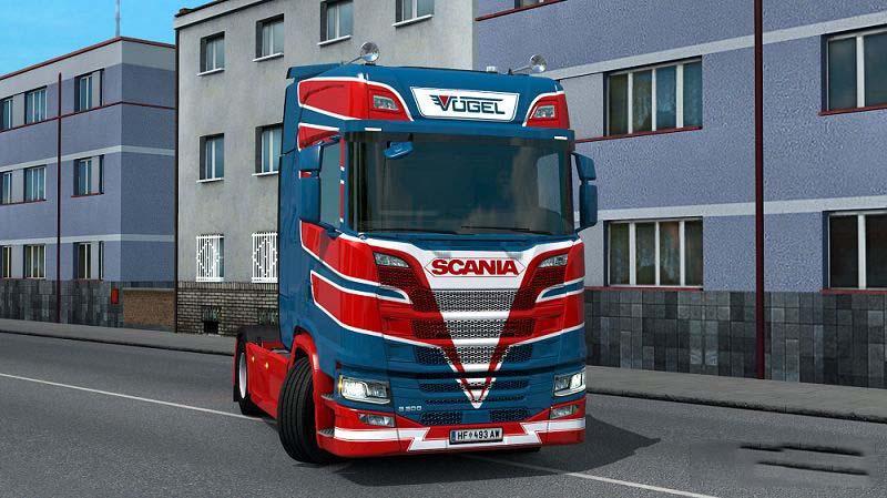 ETS2 - Scania S Vogel Transporte V1.0 (1.35.X)