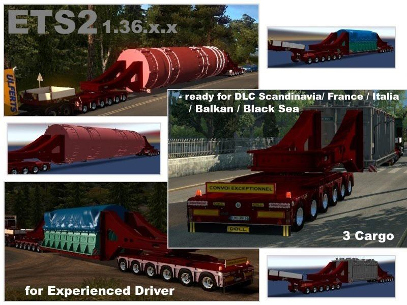 ETS2 - Doll Trailer with Vessel Bridge 6 and 6 Axles (1.36.x)