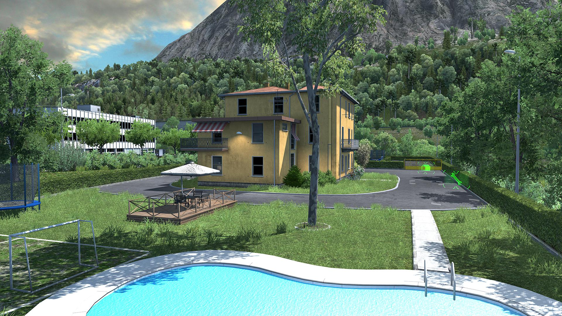 ETS2 - House in Italy with Garage, Refuel, Parking and Service V1 (1.37 - 1.38)