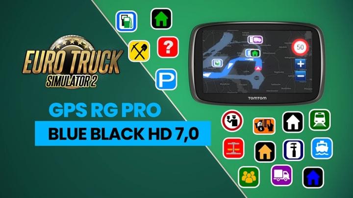 ETS2 - GPS RG Pro Blue Black HD V7.0 (1.40.x)