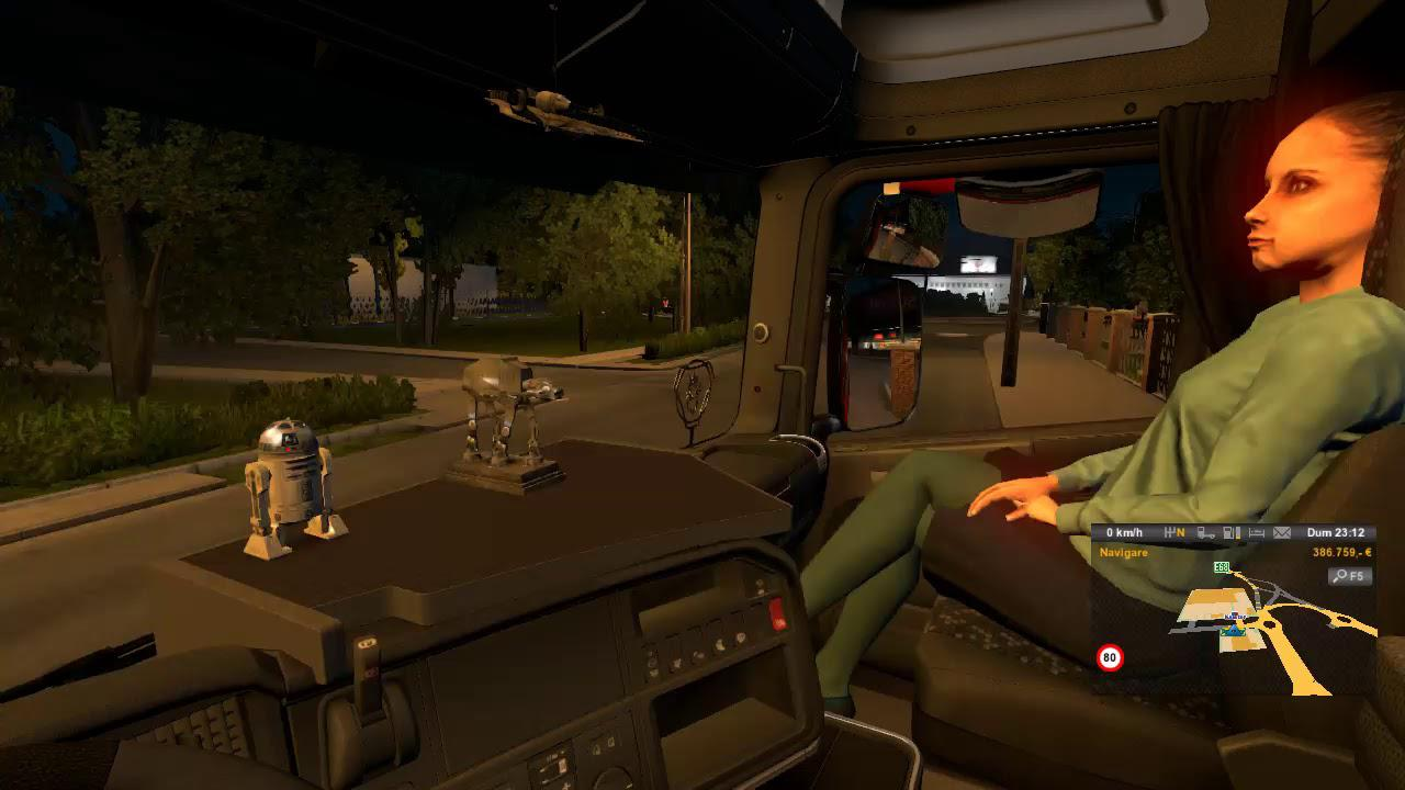 ETS2 - Animated Female Passenger in Truck (With You) V2.0 (1.36.x)