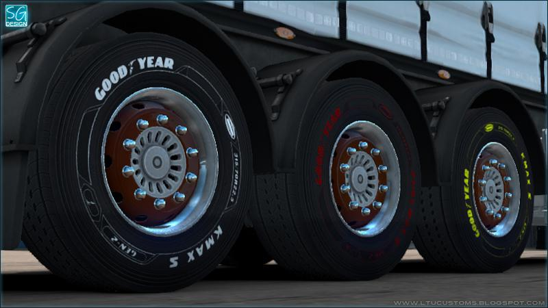 ETS2 - Goodyear DLC Trailer Tires V1.0 (1.35.X)