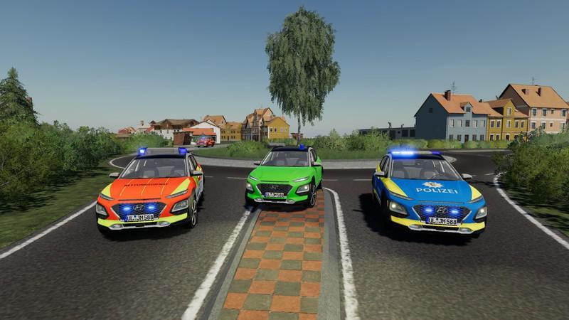 FS19 - Hyundai Kona Police And Ambulance V1.0