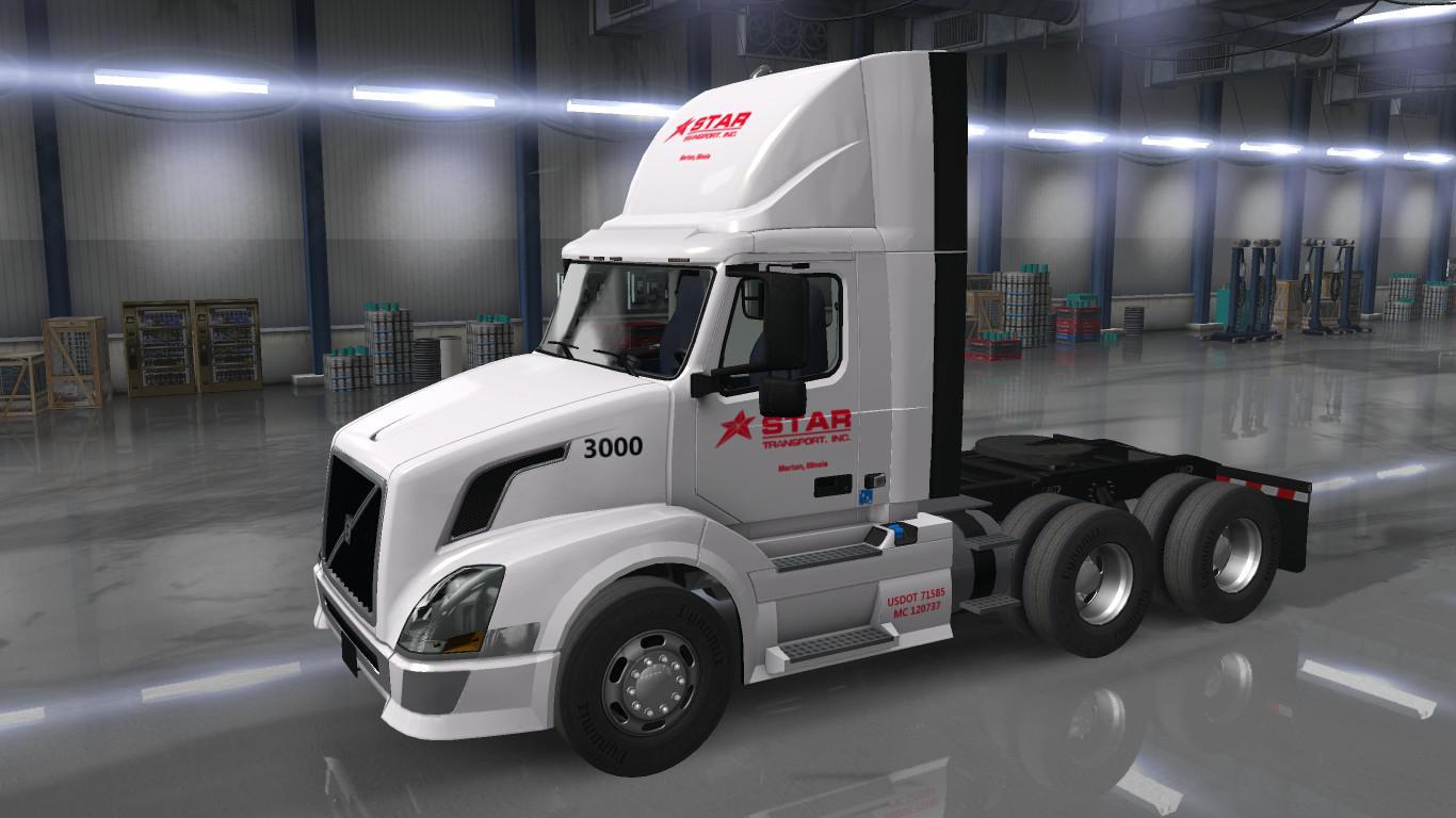 ATS - Star Transport Inc. Skins for Scs Trucks V2.1 (1.35.X)