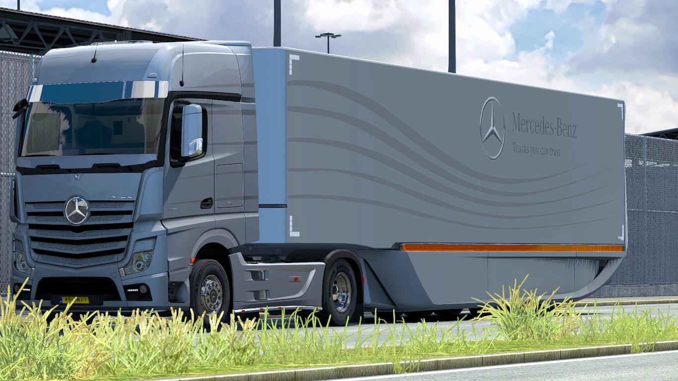 ETS2 - Mercedes-Benz AeroDynamic Trailer V1.2 (1.38.x)