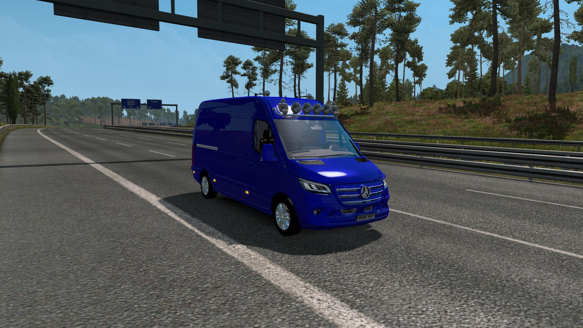 ETS2 - Mercedes Sprinter 2019 Beta V0.2 (1.36.x)