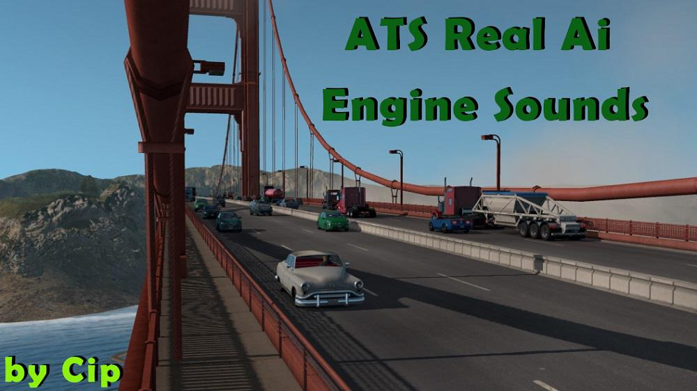 ATS - Pure Sounds! Real Ai Traffic Engine Sounds Mod (1.36.X)