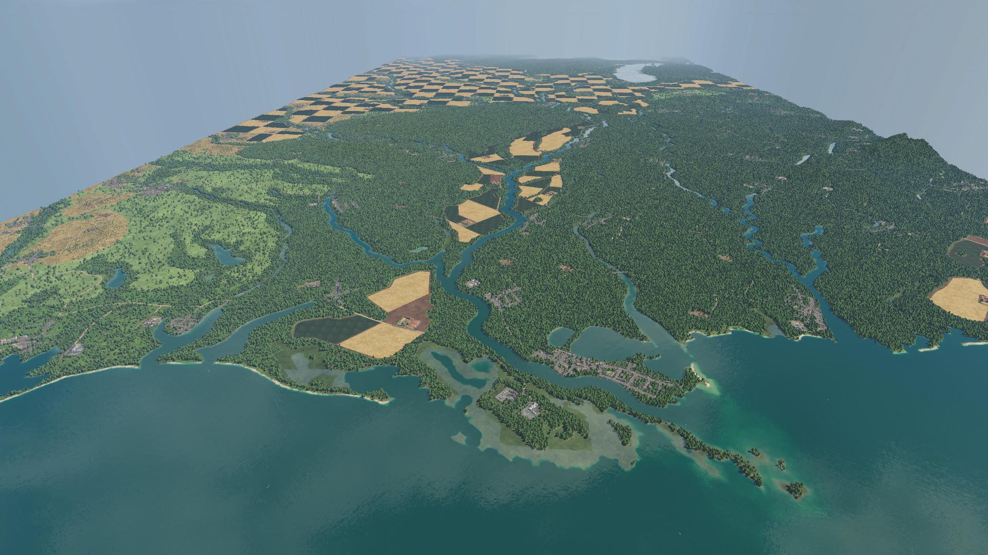 Transport Fever 2 - Old Man River Map