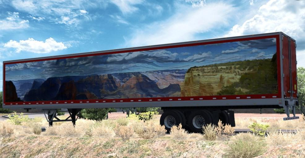 ATS - Canyon Art Trailer Skin V1.0 (1.36.x)