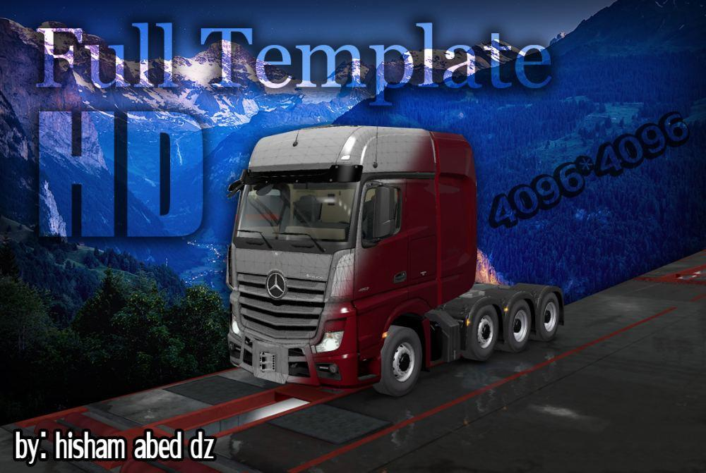 ETS2 - Mercedes Actros 2014 Template in 4K (1.36.x)