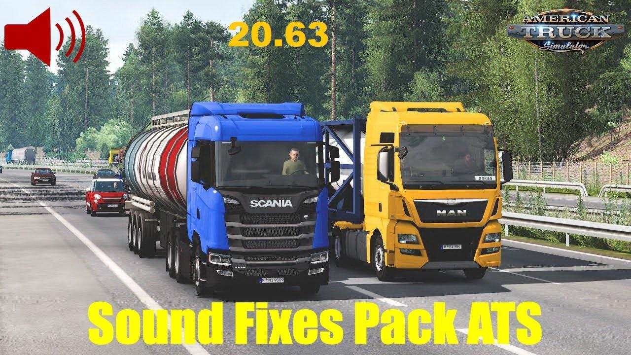 ATS - Sound Fixes Pack V20.63 (1.39.x)