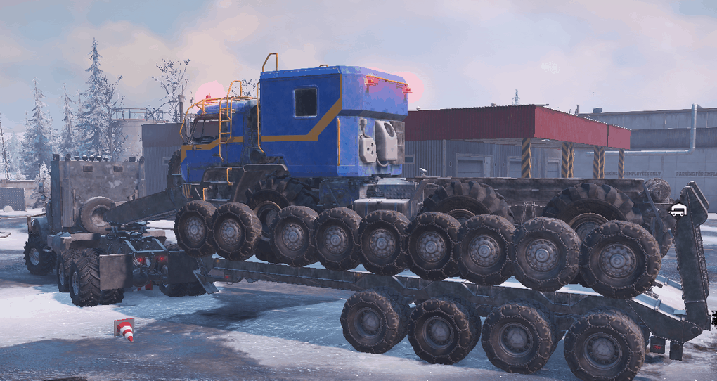 SnowRunner - Semitrailer M747 with Sidewalls