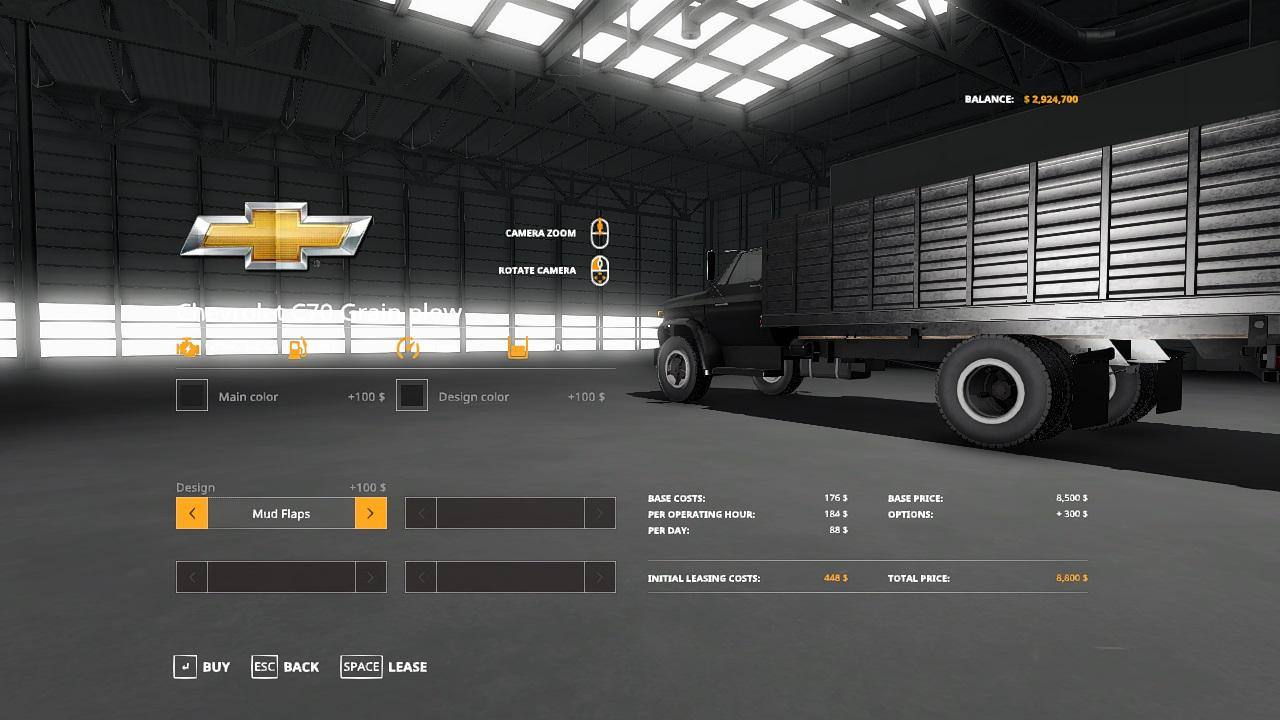 FS19 - Chevy C70 Grain Plow Truck V1.0