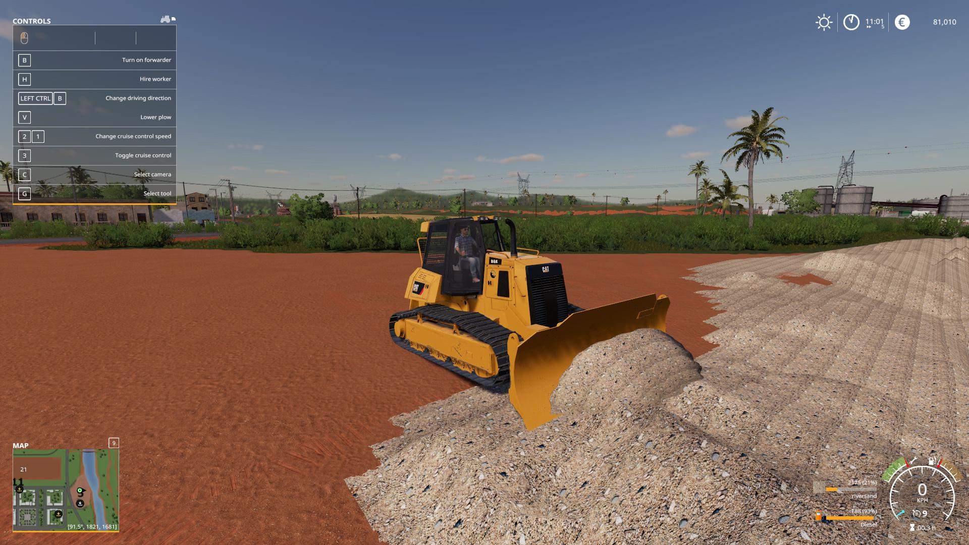 FS19 - Mining FDR Logging Blade V0.1