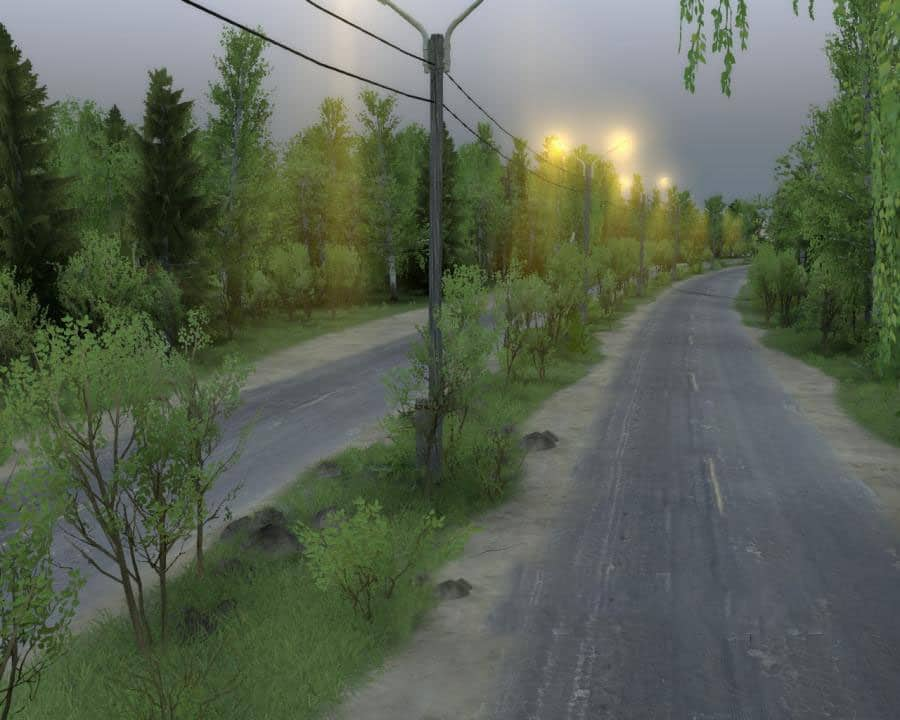 Spintires - Through The Track Map V1.0