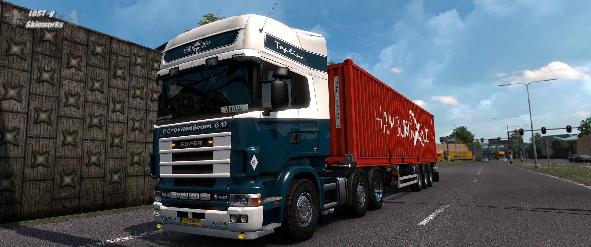 ETS2 - Scania RJL Groenenboom Transporten Skin V1 (1.37.x)