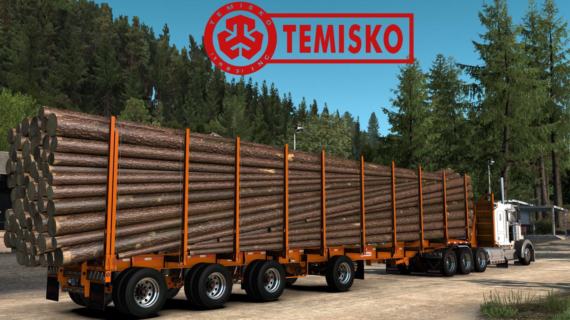 ATS - Temisko Quad Axle Log Trailer (1.40.x)