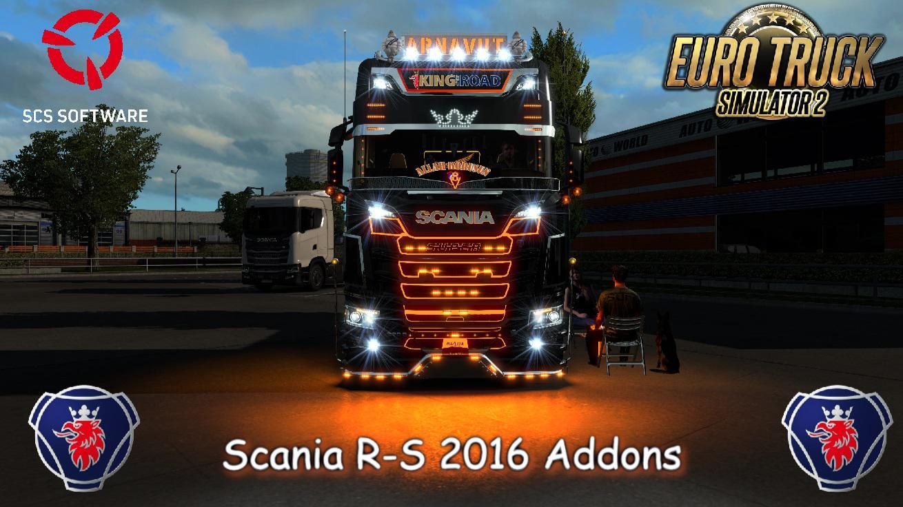 ETS2 - Scania R-S Addons V5.6 (1.38.x)