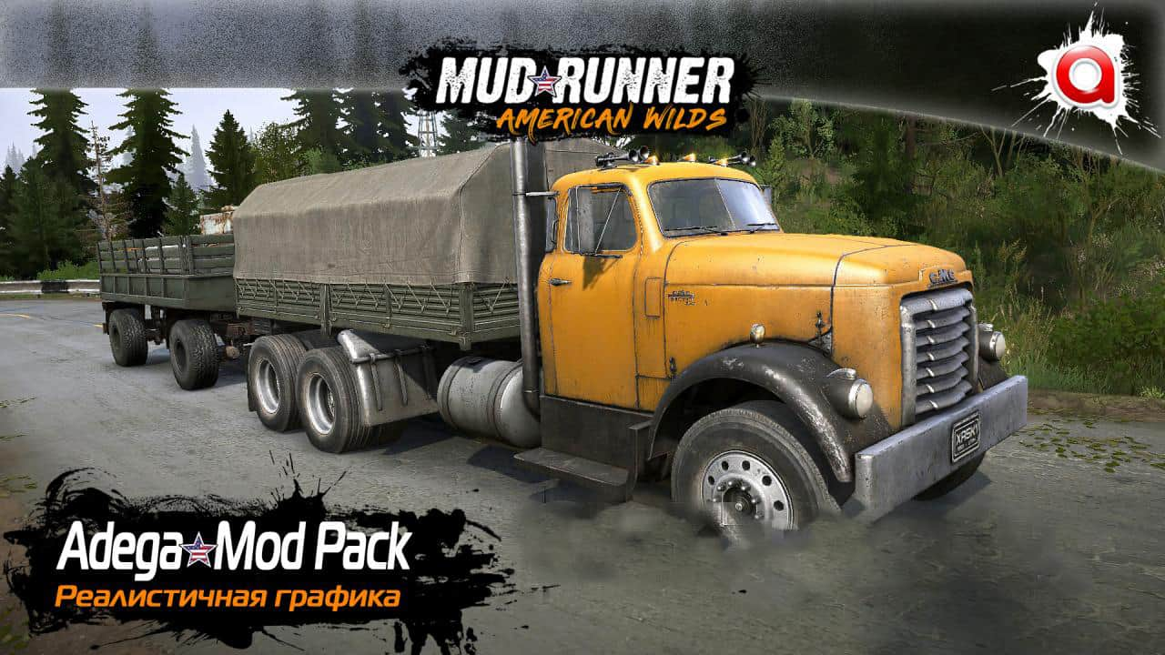Spintires:Mudrunner - Realistic Graphics Adega Mod Pack V3.9 + Sp