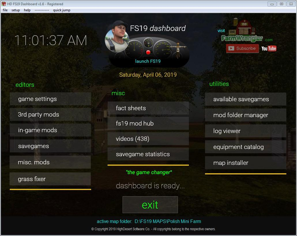 FS19 - Dashboard V1.9