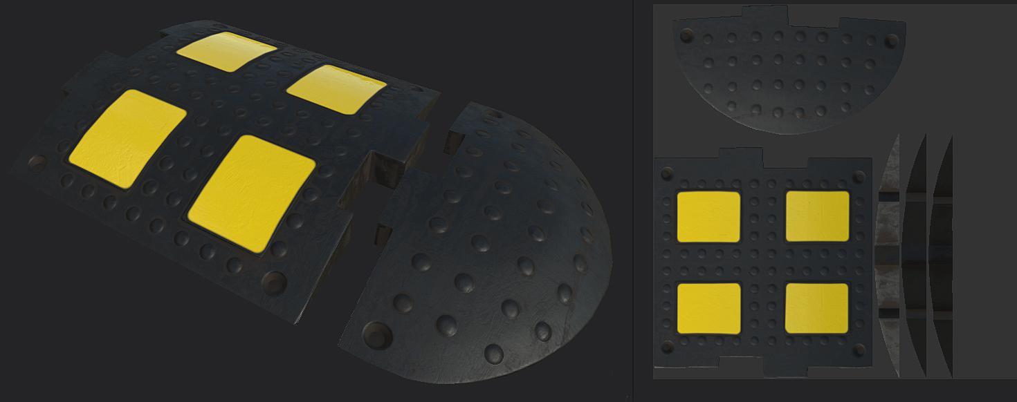 FS19 - Speed Bump Prefab V1.0