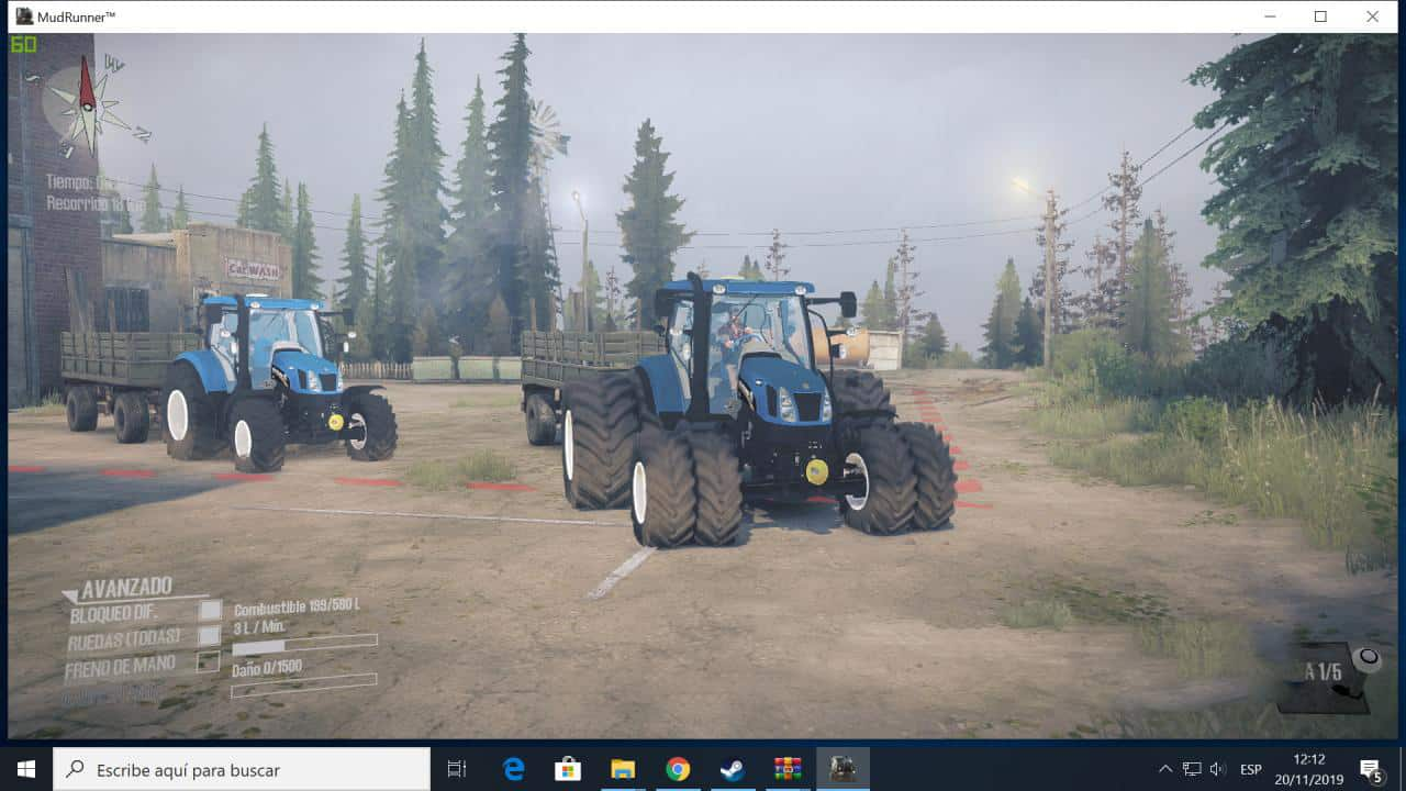 Spintires:Mudrunner - New Holland T6160 Tractor V1