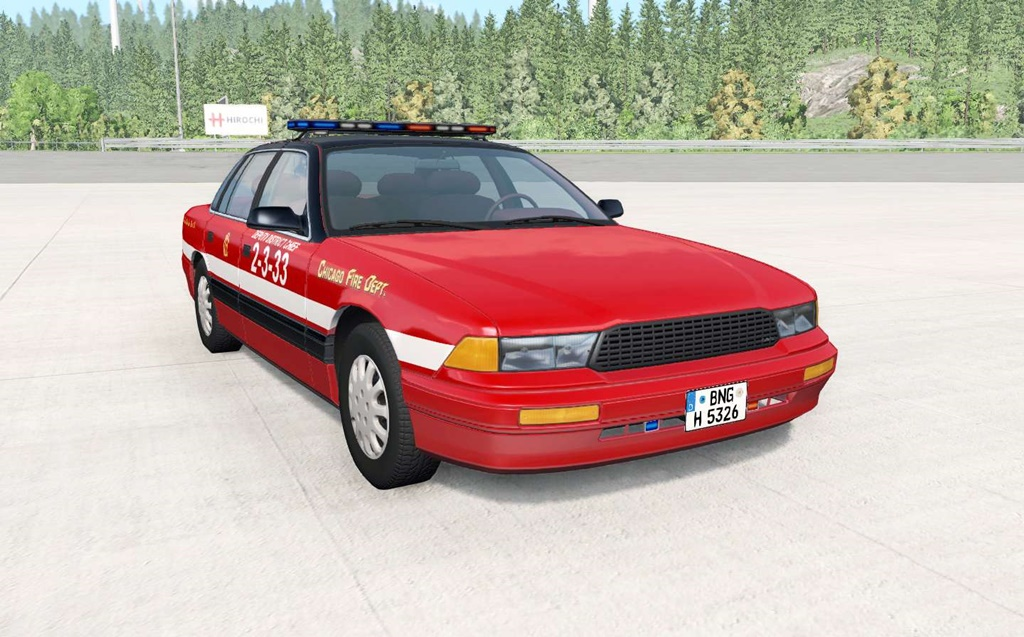 BeamNG - Gavril Grand Marshall Chicago Fire Department Car Mod