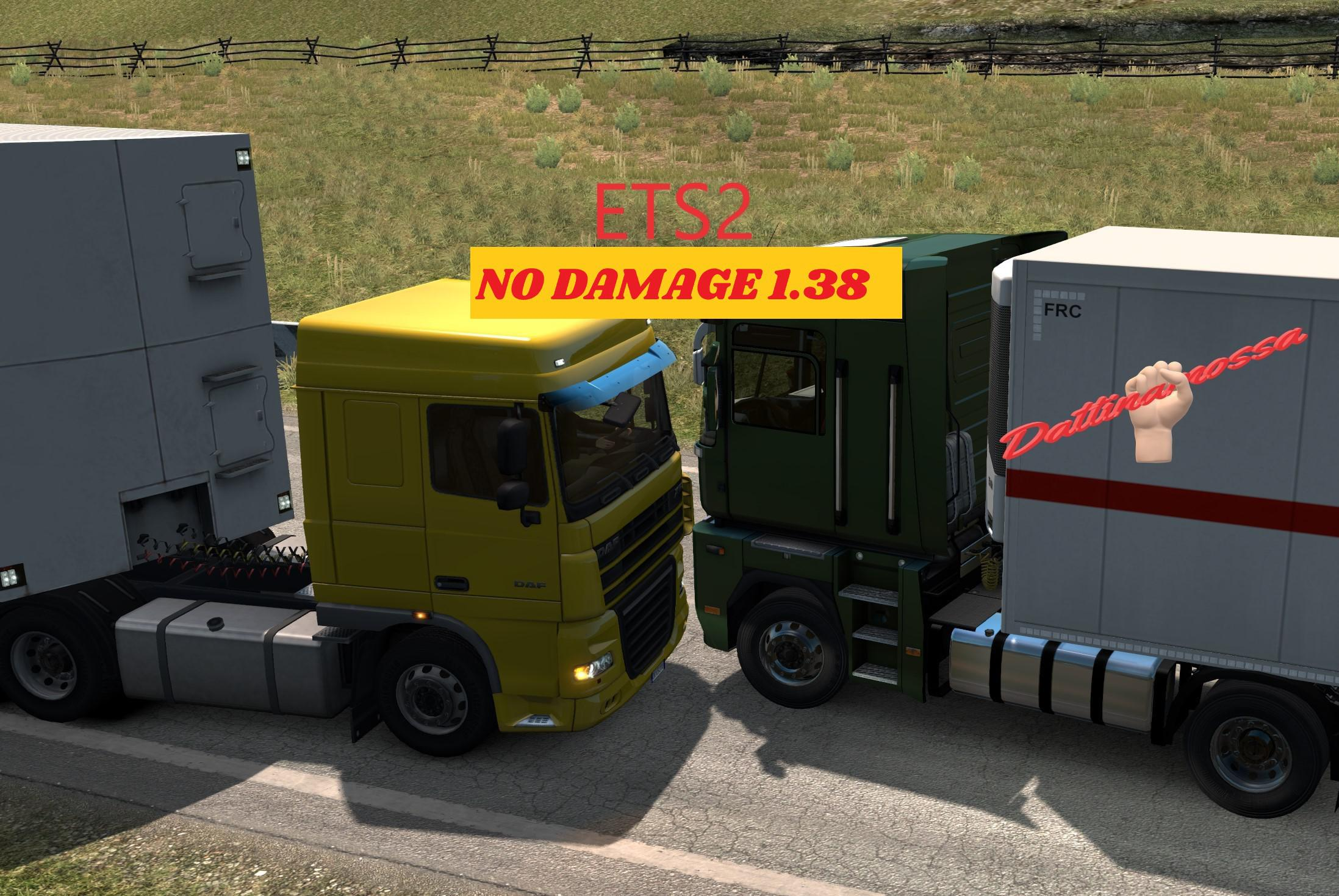 ETS2 - No Damage Mod V1.6 (1.38.x)